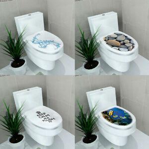 WC Sitz Toilette Klodeckel Sticker Wandbilder Aufkleber Deko F5V3 DIY Badezimmer