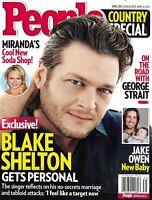 People Country Special Magazine Blake Shelton Miranda Lambert Jake Owen 2013