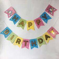 Unicorn Birthday Banner, Unicorn Theme Party, Happy Birthday Decorations, USA
