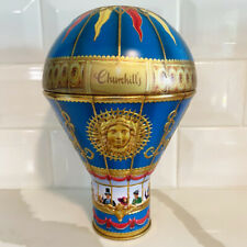 Churchills Confectionery Victorian Hot Air Balloon Tin Bank Blue Empty No Candy