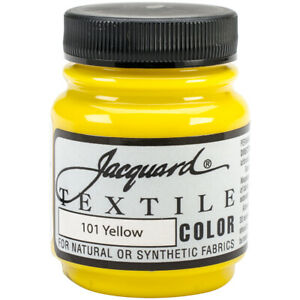 Jacquard Products-Jacquard Textile Color Fabric Paint 2.25oz-Yellow