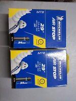 Lot 2 Chambre à air Vélo VTT Michelin 29 pouces Schrader(Standard grosse Valve)