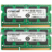 Crucial 8GB 2x4GB PC3L-8500S DDR3L 1066Mhz 204Pin SODIMM Laptop Memory 1.35V