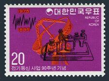Korea South 992 block/4,MNH.Michel 1004. Korean telecommunications system,1975.
