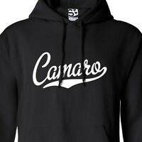 Camaro Script & Tail HOODIE - Hooded Muscle Car Sweatshirt - All Sizes & Colors