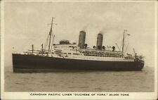 Canadian Pacific Liner Duchess of York c1930s Postcard
