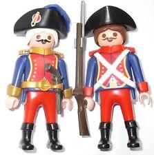 Playmobil OFFIZIER + WACHE Franzose GARDE Piraten 3111 Figur Soldaten Rotrock