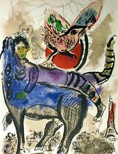 Marc Chagall, The Blue Cow 1967, Hand Signed Lithograph