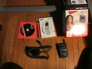 Verizon Color flip phone by Samsung new with instruction and charger # sch-a650