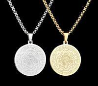 Seals Of The Seven Archangels Pendant Necklace Black Silver Gold Color Best Gift