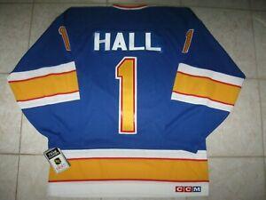 """VINTAGE"" #1 Glenn HALL St. Louis BLUES Off. Lic. CCM Jersey, Size Men's S, NWT!"