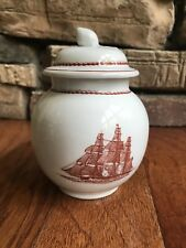 Wedgwood Georgetown Collection Flying Cloud Condiment/Sugar Jar with Lid