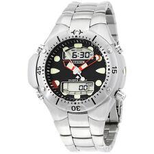 Citizen Ana-Digi Black Dial Stainless Steel Men's Watch JP106052E
