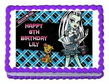 Monster High Frankie Stein party edible cake image cake topper decoration