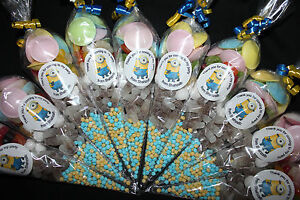 Minions Party Bags Halal Vegetarian Goody Cones Birthday Sweets Personalised