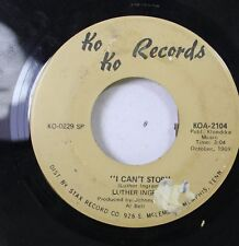 """Soul 45 Luther Ingram - """"I Can'T Stop"""" / """"My Honey And Me"""" On Ko Ko Records"""