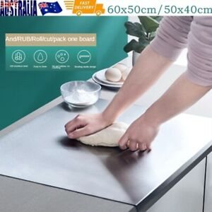 304 Stainless Steel Cutting Chopping Board Pastry Bench Protector 70x50cm AU