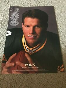 1997 BRETT FAVRE GOT MILK MUSTACHE? Poster Print Ad GREEN BAY PACKERS SUPER BOWL