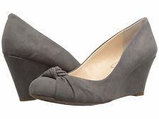 Jessica Simpson Siennah Wrap Toe Wedge PUMPS Gnocchi Grey 6 US / 36 EU