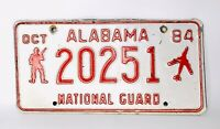 Vintage Alabama 1984 Military National Guard License Plate Collector #20251
