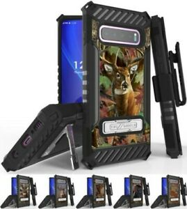 Rugged Case Cover + Belt Clip Combo for Samsung Galaxy S10 Plus - Hunter Series