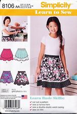 SIMPLICITY SEWING PATTERN 8106 GIRLS/TEENS/TWEENS 8-16 EASY, LEARN TO SEW SKIRTS