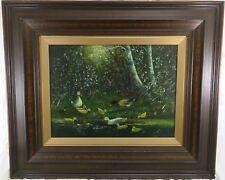 Enten Familie am Wasser Gemälde Landschaft nach Willem Maris - Öl / Holz