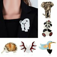 Charm Women Ainmal Bird Elephant Shell Brooch Pin Wedding Party Jewelry Gift NEW
