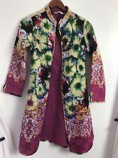 Rain & Rainbow women's jacket multicolored sz s-buttons down front Ah38