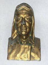 VINTAGE 1928 Lucky Lindy Bank Charles Lindbergh Metal Bust Bank Durable Toy Co