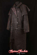 Popper Leather Other Long Coats for Men