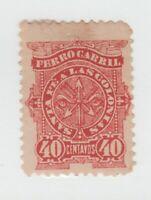 Argentina Telegraph Cinderella Fiscal Revenue Stamp 7-29- no gum