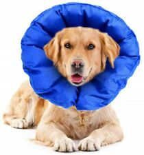 Protective Soft Inflatable Cone Collar for Dogs and Cats Small Blue comfortable