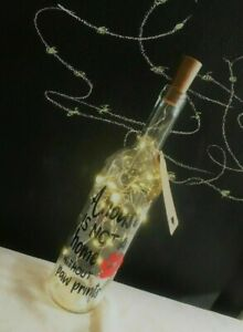 A House Is Not A Home Without Paw Prints, Light Up LED Bottle/Dog/Cat Gift/Wine