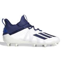 ADIDAS ADIZERO Mens Low Football Cleats Lightweight - White / Blue - PICK SIZE