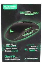 Blade Hawks GM-X5 Colourful Illumination USB Wired Gaming Mouse Windows PC New