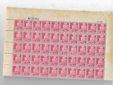 bloc de 50 timbres n** d'algérie no 180 avec coin daté