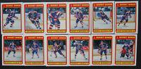 1990-91 O-Pee-Chee Soviet Wings Team Set of 12 Hockey Cards