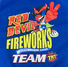 VTG Red Devil Fireworks Team Millennium 2000 TNT Blue Workers Apron - Rare!
