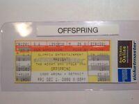 Offspring full concert ticket Michigan.... {{FREE SHIPPING}}