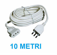 Prolunga elettrica 220V 10 metri. Spina 10A+T presa 10 A.Cavo lineare 10 m.