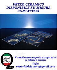vetro ceramico per stufe e camino 15,5cmx 9,5cm preventivo gratuito su misura