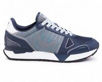 Emporio Armani X4X289 XM232 Logo Mens Trainers Blue Sneakers