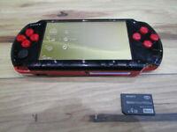 Sony PSP 3000 Console RedxBlack w/4GB Memory Stick Japan m44