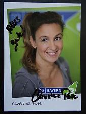 "Autogrammkarte: ""Christine Rose""- BR 3- handsigniert"