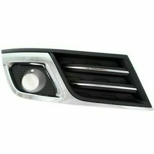 FITS 2013 - 2015 CHEVROLET TRAVERSE LTZ FOG LAMP COVER W/HOLE CHR/BLK RIGHT