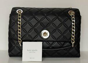 Kate Spade New York Md Flap Shoulder Natalia Black Code WKRU7076. NWT $429