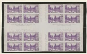UNITED STATES # 770, BLOCK OF 16, CROSSED  GUTTER, MNH