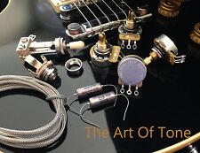 TAOT LES PAUL® Wiring Kit - SHORT Shaft - 525PIO - CTS 525K Pots, K40Y-9 Caps