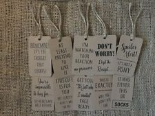20 Christmas gift, wrapping present tags, witty, funny unisex with twine